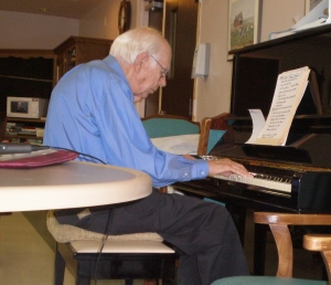 Dad in 2008, playing at a nursing home.