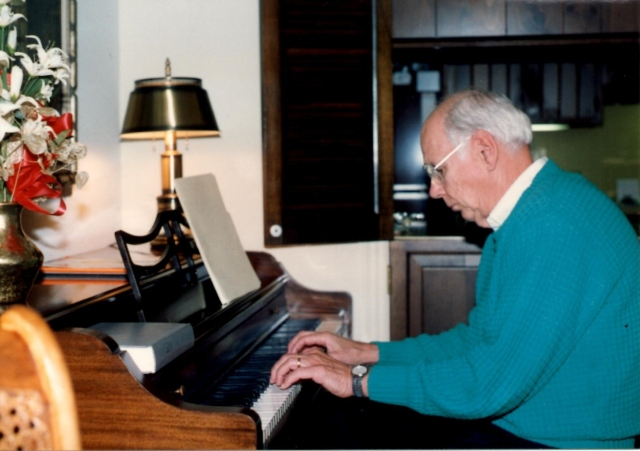 Dad at the piano, probably in 1994