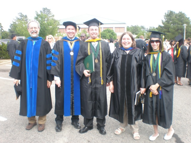 My College Prof Days--With Graduating Psych Majors and Psych Faculty, 2009
