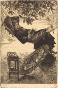 """The Hammock,"" by James Jacques Joseph Tissot. Courtesy National Gallery of Art, Washington."