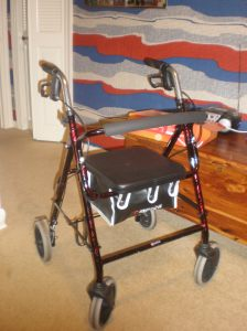 Mom's walker. which she is now having to use more.