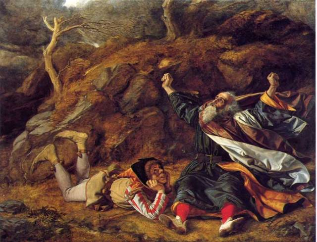"""King Lear and the Fool in the Storm,"" by William Dyce"