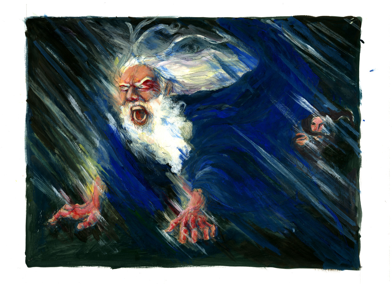 the storm in king lear The laurence olivier version of the infamous blow winds and crack your cheeks speech.