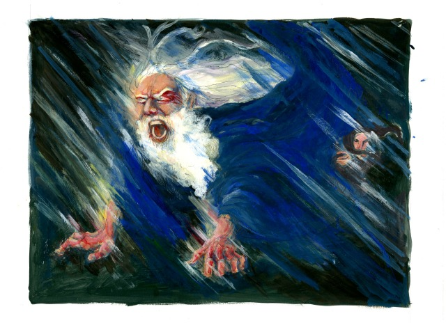 Lear in the Storm. Image from suziglass.tumblr.com