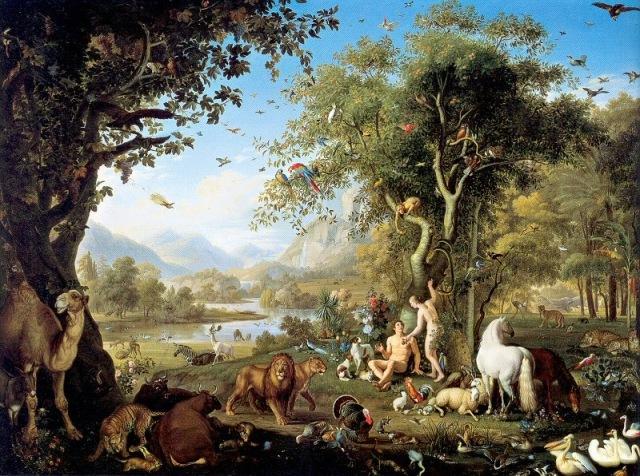 """Peter Wenzel, """"Adam and Eve in the Garden of Eden"""""""